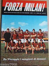FORZA MILAN!=N°3 1970=STORIA DEL MILAN=RIVERA=IL PERU DI DIDI=