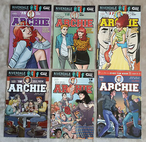 ARCHIE New Series (2015) Lot of 6 Comics #15-16-17-18-19-20   2017 All cover A