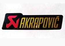 ADESIVO STICKERS AKRAPOVIC ALLUMINIO 3D ALTE TEMPERATURE 200° SCARICO EXHAUST