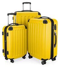 Hauptstadtkoffer Spree 3er Kofferset gelb Hartschale Koffer Reisekoffer Trolley