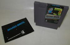 Mario Bros. (Nintendo, 1986) NES 5 Screw game w/ Instruction Manual Booklet Book