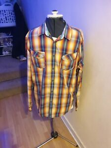 Ted Baker Size L Shirt Multicolour Check