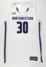 New Under Armour Northwestern Basketball Game Jersey Men's L ArmourFuse White