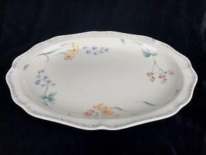 Noritake American Flowers Serving Platter 14 1/2 X 10 1/2 Japan