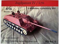 1:16 Modell Bausatz Model Kit / Jagdpanzer IV / L70 / RC Panzer 1 2 3 4 Tank