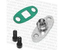 TURBO OIL DRAIN OUTLET Flange Gasket ADAPTER KIT 10AN MALE Fitting s366 s300
