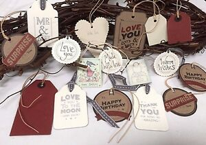 Craft East of India Birthday Wedding Gift Tags Labels Gift Wrapping For Friends