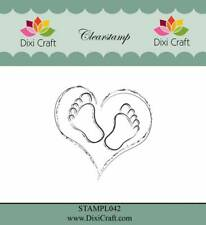 New Dixi Craft Clear Stamp Baby Heart and Feet