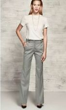 Polyester Straight Leg Mid Rise Trousers Size Tall for Women