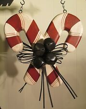 """""""Candy Canes & Bells"""" Replacement Sign - Wood Sign for Country Arrow Holders"""