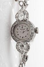 Vintage 1950s Platinum ROLEX 2ct VS H Pear Cut Diamond Ladies Watch & BOX & Wty