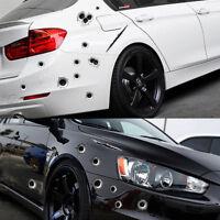 Black 3D Bullet Holes Car Sticker Scratch Decal Motorcycle Stickers Waterproof
