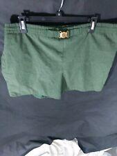 Vintage 60s 70s Jantzen Belted Swim Trunks Size 40 Green
