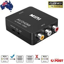 Composite AV CVBS 3RCA RCA to HDMI Video Cable Converter 1080p Upscaling