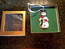 Wedgwood Painted Snowman Christmas Ornament