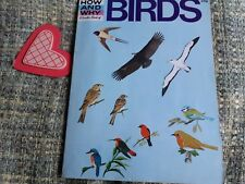 The How and Why Book of Birds, Childrens Retro book