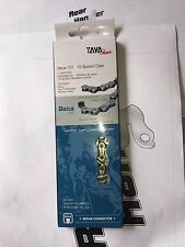 TAYA DECA 101 10 speed MTB / Road Bike 1/2'' x 5/64'' Chain Silver /Black GST500
