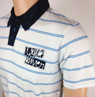 "Mens QUIKSILVER Polo Shirt Ripon Antique White Adult Small 36"" Surf CLEARANCE"