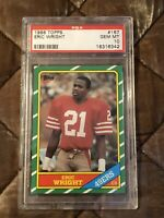 1986 Topps Football #167 Eric Wright PSA 10 Gem Mint