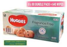 New* 640pcs HUGGIES Thick Baby Wet Wipes Bulk Mega Pack Fragrance Free