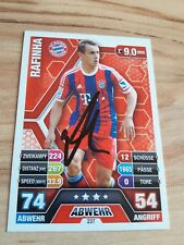 match attax signiert Rafinha FC Bayern München  NEU