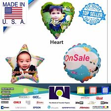 """Star, Heart, Ball 1 Each Ink Jet Printable Personalized Ballons A4 (8.27x11.69"""")"""