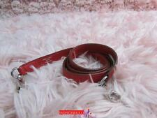 Auth HERMES True Red Rouge Clemence Leather Strap for Bags(Strap ONLY)