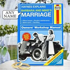 Personalised Haynes Explains Marriage Book Wedding Engagement Couple Gift Idea
