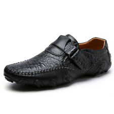 Mens Leather Shoes Casual Driving Moccasins Peas Flats Breathable Lazy Loafers