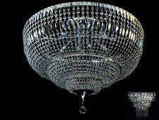 Riesen Deckenkronleuchter, Echtes Bleikristall, 12 Brennstellen. Pass. Wandlampe