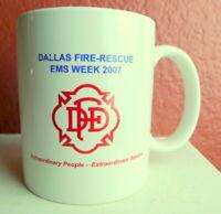 Dallas Fire Rescue EMS Week 2007 Commemorative Coffee Mug DFD