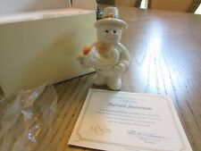 "Lenox China Figurine Harvest Snowman Twelve Months Of Snowmen Series 3.75"" Coa"