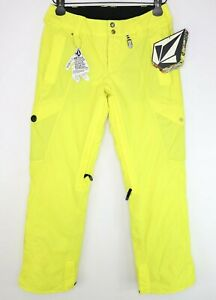 Volcom Jacobsen Insulated Pants Womens Size S Snowboard Pants Yellow