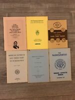 VTG Numismatic 6 Book Lot Forgery Detection Symposium Hard Times Tokens