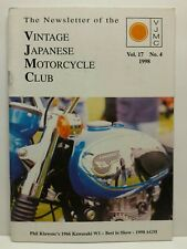 Vintage Japanese Motorcycle Club VJMC Newsletter Magazine Volume 17 #4 1998
