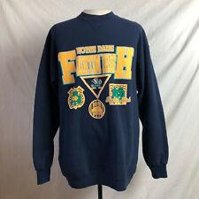 Vintage 90s Notre Dame Fighting Irish Sweatshirt Large Vtg Collegiate College