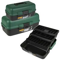 Medium Or Large Tool Box Hobby Storage Case With Extendable Trays Carry Handle