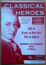 Classical Heroes programme City of Peterborough Symphony Orchestra CPSO 2/3/2003