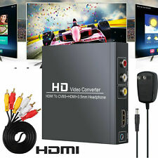 HDMI to HDMI +3RCA CVBS AV Composite Video Audio Converter w/ 3.5mm Audio Output