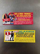 GI Joe mail away certificates vintage 80's SGT Slaughter and FRIDGE