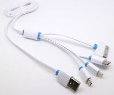 1M New Multi 4in1 USB Charger Charging Cable Cord For iPhone Samsung HTC LG MOTO