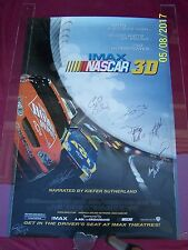 """"""" IMAX NASCAR 3D """" SIGNED 11 auto racing DRIVERS 2003 27x41 ROLLED  movie poster"""