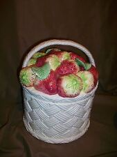 (Imperfect) Fitz & Floyd 1990 Strawberry Basket Storage Canister