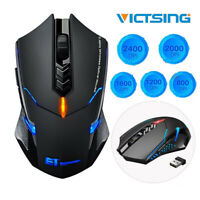 VictSing 2.4Ghz USB Wireless Optical Gaming Mouse 2400DPI LED Programmable Mice