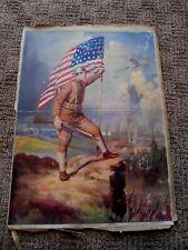 R. Atkinson Fox, Military, Flag, Arthur, Soldier & Family, Large Prints 1920s