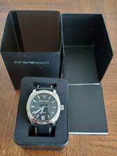 Emporio armani AR-5801 black leather strap X-Large watch