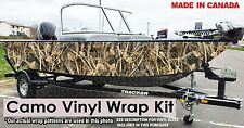 MATTE CAMO BOAT WRAP KIT 16 FOOT BOAT VINYL DUCK HUNTING GRASS BLADES TREE C7m