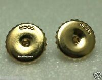 Solid 14k Yellow Gold Extra Large 9mm SCREW BACK Ear Nuts SAFETY Earring Backs