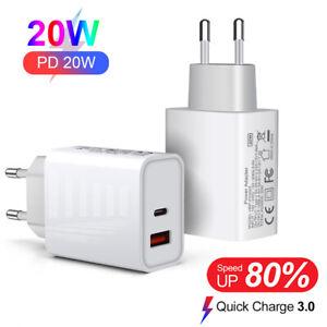 2 Port 20W Adapter USB-C PD Schnellladegerät QC3.0 Wandstecker Für iPhone 13 Pro