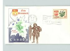 Canada, 1965 First Day of Issue, New Brunswick, Flower, Blue Violet, Overseas Ma